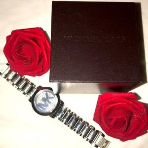 Authentic Michael Kors All Stainless Steel Watch
